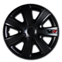 16 In VR Carbon Black Wheel Cover 4 pack