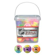 Franklin Sports NHL Extreme Colour Street Hockey Balls Bucket, Pieces of 15 Balls