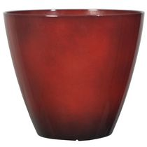 "hometrends Decorative 10"" Plastic Planter Red"