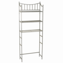 Hometrends Medina Metal Spacesaver, 3 Shelf, Satin Nickel