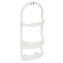 Mainstays Large Plastic Over the Shower Caddy, Frosted