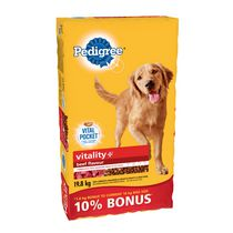 Pedigree Vitality Beef Flavour Adult Dog Foods