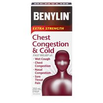 BENYLIN® Extra Strength Chest Congestion & Cold Syrup, 250 mL