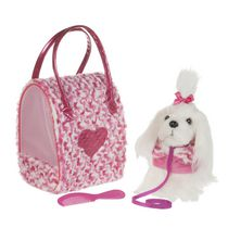 Battat Medium Maltese Pucci Pups Plush Toy and Carrier