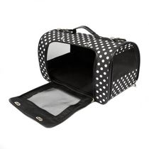 SimplyDog Black & White Dot Dome Dog Carrier