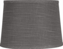"13"" Brown Linen Empire Shade"