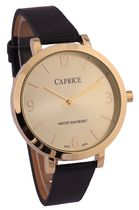 Cardinal Caprice Ladies' Black Leather Strap Analog Watch
