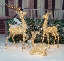 Holiday Time Deer Family Sculpture