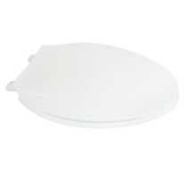 19 inch Elongated Plastic Toilet Seat, White