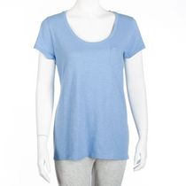 George Women's Slub Jersey Scoop Neck T-Shirt Blue M/M