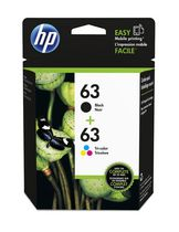 HP 63 2-pack Black/Tri-color Original Ink Cartridges - L0R46AN