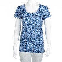 George Women's Scoop Neck Cotton T-shirt Blue XS