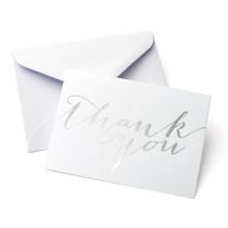 Gartner Studios Silver Foil 'Thank You' Cards