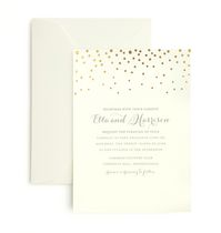 Gartner Studios Gold Foil Dot Invitation Cards