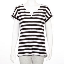 George Women's Split-Neck T-Shirt Black XS