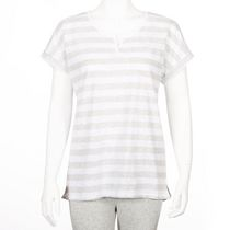 George Women's Split-Neck T-Shirt Gray XXL
