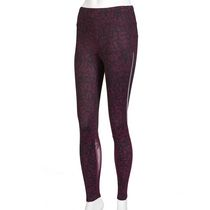 Athletic Works Women's Mesh Trim Legging Purple L/G