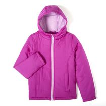 George Girls' Hooded Puffer Jacket Purple L/G
