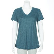 Athletic Works Women's V-Neck Short Sleeved T-Shirt Teal S/P