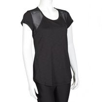 Athletic Works Women's Mesh Back Tee Black XL/TG