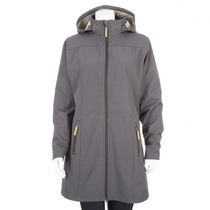 George Women's Long Softshell Hooded Jacket Gray L/G