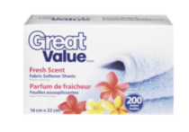Great Value Fresh Scent Fabric Softener Sheets