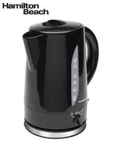 Hamilton Beach 1.7 L Adjustable Temperature Cordless Kettle Black