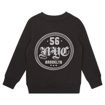 George British Design Boys Black Brooklyn Print Sweatshirt 14
