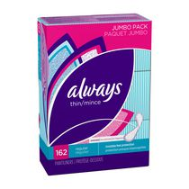 Always Thin Edge 2 Edge Adhesive Unscented Liners
