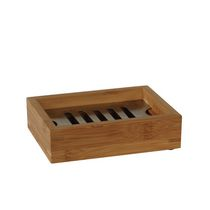 Mainstays Bamboo and Stainless Steel Soap Dish