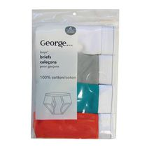 George Boys' Cotton Brief Pack of 4 L