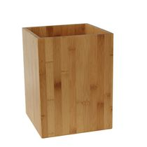 Mainstays Bamboo and Stainless Steel Waste Basket