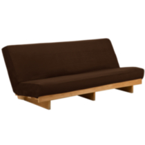Futon Furniture Slipcover Dark brown wood