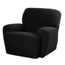 Pixel Slipcover for Recliner Black