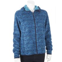 George Women's Micro Fleece Hooded Jacket Blue M/M