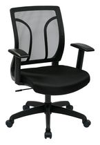 Office Star Work Smart Screen Back Task Chair with Adjustable Arms