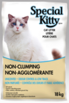 Special Kitty Non-Clumping Unscented Odour Control & Low Track Cat Litter 18 kg
