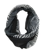 George Women's Light Weight Zebra Print Infinity Loop Scarf