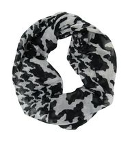 George Women's Light Weight Houndstooth Print Infinity Loop Scarf