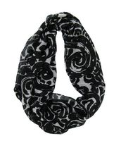 George Women's Light Weight Swirl Print Infinity Loop Scarf