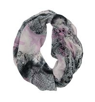 George Women's Light Weight Snake Print Infinity Loop Scarf