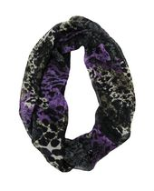 George Women's Light Weight Animal Print Infinity Loop Scarf