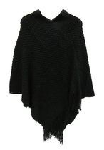 George Women's Warp Knit Poncho Scarf Black