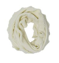 George Women's Cable Knit Infinity Loop Scarf Ivory