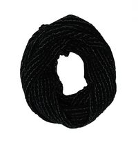 George Women's Textured Knit Infinity Loop Scarf Black