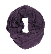 George Women's Melange Jersey Knit Infinity Loop Scarf Purple