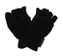 George Women's Fleece Flip Glove Black