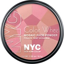 NYC New York Color Color Wheel Mosaic Face Powder, 9 g Pink Cheek Glow Pink