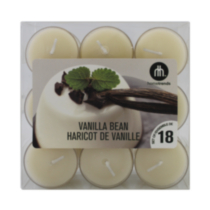 18-Pack Scented Tealights Vanilla Bean