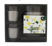 3-Piece Scented Candle Gift Set White Jasmine
